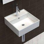 vidaXL Luxueuse vasque céramique carrée avec trop plein 41 x cm de la marque vidaXL image 2 produit