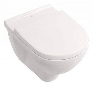 Villeroy & Boch O. Novo Toilette avec assise suspendue, chasse d'eau directe et sans bordure, 5660HR01 de la marque Villeroy & Boch image 0 produit