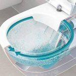 Villeroy & Boch O. Novo Toilette avec assise suspendue, chasse d'eau directe et sans bordure, 5660HR01 de la marque Villeroy & Boch image 1 produit