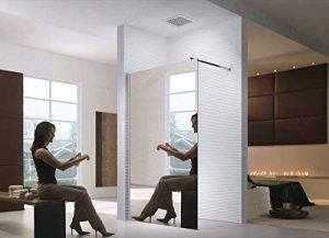 Wagner - Cabine de douche/Walk-In Cloison de douche/Paroi de douche/Verre De Sécurité Douche/Transparet/Satin/Mirror (Miroir, 140x200cm) de la marque Wagner image 0 produit