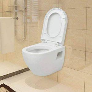 WC suspendu en céramique Blanc 36 x 49,5 x 38 cm de la marque SENLUOWX image 0 produit