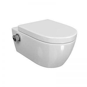 WC Taharet suspendu.Inclus: lunette amovible à rabat fermant en douceur et douchette intime avec fonction bidet. de la marque SSWW image 0 produit