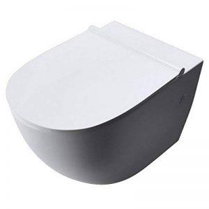 WC TOILETTE WC SUSPENDU ABATTANT SILENCIEUX LUNETTE DE WC AIX502 de la marque sogood image 0 produit