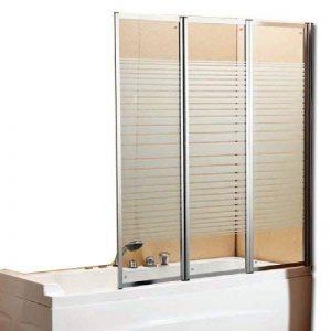 Windy Paroi de douche pour baignoire en cristal sérigraphié 130 x 140 (l x H) de la marque Windy image 0 produit