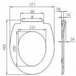 WOLTU Couvercle de WC avec softclose fonction Abattant de toilette en Duroplaste avec bouchon d'évier,Enrobage antibactérien WS2681+BZ4419m1 de la marque WOLTU image 3 produit