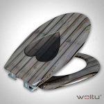 WOLTU WS2582 Abattant de toilette en Duroplaste,Couvercle de WC avec SoftClose,Siège de toilette Fast Fix / fixation,charnières, antibactériennes de la marque WOLTU image 1 produit