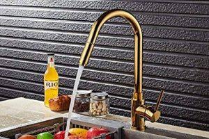 Xie (Doré pivotant robinet rotatif de cuisine de soupe de robinet de cuisine Lavabo Robinet chaud et froid de la marque XIE Sink faucet image 0 produit