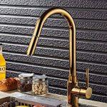 Xie (Doré pivotant robinet rotatif de cuisine de soupe de robinet de cuisine Lavabo Robinet chaud et froid de la marque XIE Sink faucet image 1 produit