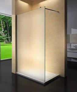 Yellowshop-Paroi de douche fixe Walk-In en verre de 8mm transparent ou opaque dépoli - Box cabine de salle de bain - dimensions 70,80,100,120,140 cm, multicolore de la marque Yellowshop image 0 produit