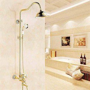 YSRBath Modernes Robinets d'évier de Salle de Bains Douche dorée en Laiton fixé au Mur de Douche Cuisine Mélangeur Cuisine Robinets de lavabo de la marque YSRBath image 0 produit